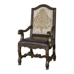 Ambella Home - New Ambella Home Arm Chair Fabric Mahogany - Product Details