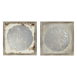Paragon - Vine Motif Mirrors PK/2 - Framed Art - Each product is custom made upon order so there might be small variations from the picture displayed. No two pieces are exactly alike.