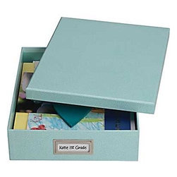Martha Stewart Home Office With Avery Stack+Fit Shagreen Document Storage Box - I keep fabric samples in boxes like this, and I love them.