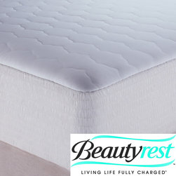 Simmons Beautyrest - Beautyrest Cotton Waterproof Mattress Pad - Protect your mattress with this waterproof mattress pad. This 200-thread count, 100-percent cotton top mattress pad features a polyurethane waterproof barrier to protect against unwanted spills and stains.