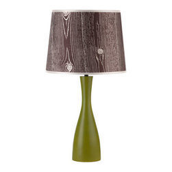 """Lights Up! - Lights Up! RS-264-FBD Oscar Single Light 24""""H Table Lamp - Lights Up! RS-264-FBD Oscar Single Light 24""""H Table Lamp with Faux Bois Dark ShadeWith a curvy retro shape, this chic Oscar 24 inch single light table lamp features an angled Faux Bois Dark Fabric Shade. This stylish piece will breath color and life into any decor.Lights Up! RS-264-FBD Features:"""