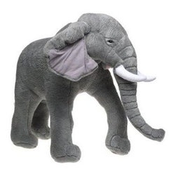 Elephant Plush Stuffed Animal - I think an oversize plush is such a wonderful, whimsical touch in a child's room. This large elephant is perfect!