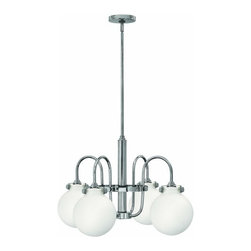 Hinkley Lighting - Hinkley Lighting 3043 Congress 4 Light 1 Tier Chandelier - Four Light Single Tier Chandelier with Etched Opal Globe Shade from the Congress CollectionFeatures:
