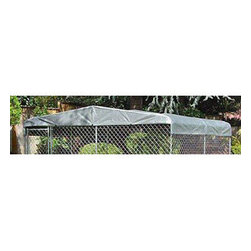 Jewett-Cameron Companies - Kennel Cover, 10'W x 10'L - Fits any 10'W x 10'L kennel