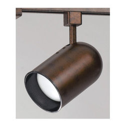 Cal Lighting - Cal Lighting LT-267 1 Light 75 Watt Round Back Track Head for LT Series Track Sy - Contemporary / Modern 1 Light 75 Watt Round Back Track Head for LT Series Track SystemsThe LT Track System is a 2-wire narrow single circuit system.Features: