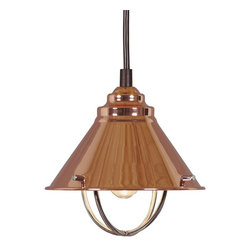 Kenroy - Kenroy KR-66342-COP Harbour Pendant Light - Inspired by nautical lanterns, these pendants are a beautiful addition to any kitchen.  Available in cool Brushed Steel, warm Copper, or Oil Rubbed Bronze finish, they subtly complement sink fixtures and cabinet hardware.