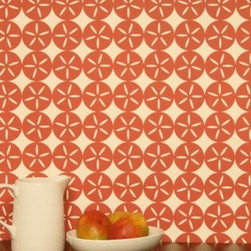 Madison&Grow - Maggie Wallpaper, Red Boat House - Vanillawood is an official rep for Madison and Grow Wallpaper!