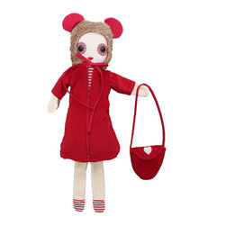 "OOTS! - Betty Stuffed Toy - A dress up doll might just be the perfect gift for the little girl in your life. ""Betty"" comes with a zippered dress and cozy hood, as well a fashionable purse. She'll surely provide years of entertainment and comfort to your own little lady."