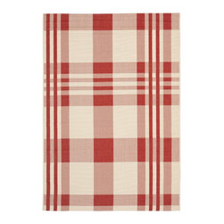 Safavieh - Safavieh Red/ Bone Indoor Outdoor Rug - This striped indoor and outdoor rug is ideal on a patio or in your living room. It's power-loomed to resist the elements so you don't have to worry about it being outside,and its red and white pattern gives it a beautiful picnic-blanket look.