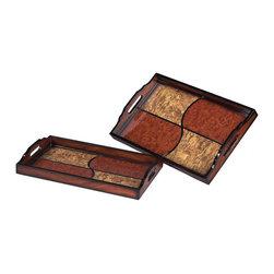 Sterling Industries - Sterling Industries 118-004 Set Of 2 Quartered Trays - Tray (2)