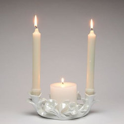ATD - 8.75 Inch Calla Lily Flower White Porcelain Utility Candle Holder - This gorgeous 8.75 Inch Calla Lily Flower White Porcelain Utility Candle Holder has the finest details and highest quality you will find anywhere! 8.75 Inch Calla Lily Flower White Porcelain Utility Candle Holder is truly remarkable.