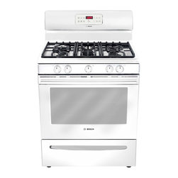 "Bosch 300 Series 30"" Gas Freestanding Range, White 