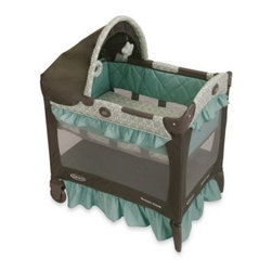 Graco - Graco Travel Lite Crib in Winslet - For parents who want to keep their sleeping infants close by, this crib is the perfect spot. It's 20% smaller than traditional playpens and features a removable full bassinet with quilted bumpers and a canopy with soft toys.