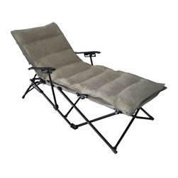 International Caravan - Folding Chaise Lounge with Micro Suede Cushion and Carry Bag - Sage Cushion Mult - Shop for Chaise Lounges from Hayneedle.com! Looking for a comfy piece to plunk down on your patio or in front of a campfire? Look no further than the Folding Chaise Lounge with Micro Suede Cushion and Carry Bag - Sage Cushion. A soft micro-suede fabric cushion provides a plush place to stretch out and comes in a steely sage color. The frame features a four-point recline function and is made from solid aluminum making this piece sturdy and at only 27 lbs. lightweight. The whole piece is fully collapsible and stores easily in the matching sage carrying bag. About International Caravan Inc.For nearly half a century International Caravan Inc. has been scouring the world for unique furniture and home decor products to bring to the international market. Today International Caravan Inc. is ranked as one of the leading import and wholesale distributors in the nation. Their products can be found on the largest E-commerce websites as well as in America's leading retail stores.