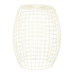Safavieh - Safavieh Grid Stool X-A0054XOF - Inspired by the pop modern style of the 60s, the sleek iron geometry of the Eric Grid Stool's clean lines make it a classic, while its soft ivory finish gives any room a whisper of contemporary style.