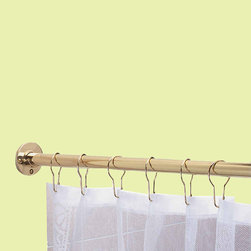 Gray And White Blackout Curtains L-shaped Shower Curtain Rod