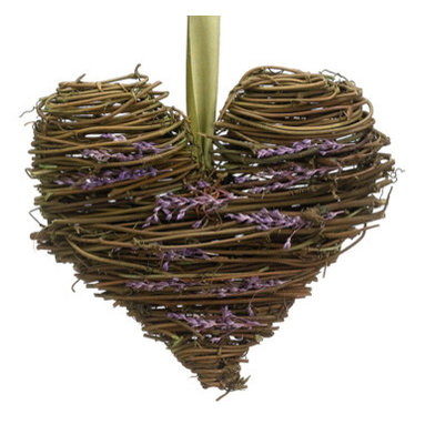 Silk Plants Direct - Silk Plants Direct Lavender and Twig Heart Wreath (Pack of 12) - Silk Plants Direct specializes in manufacturing, design and supply of the most life-like, premium quality artificial plants, trees, flowers, arrangements, topiaries and containers for home, office and commercial use. Our Lavender and Twig Heart Wreath includes the following:
