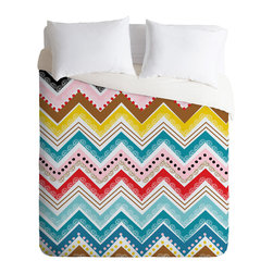 DENY Designs - Khristian A Howell Nolita Chevrons Duvet Cover - Turn your basic, boring down comforter into the super stylish focal point of your bedroom. Our Luxe Duvet is made from a heavy-weight luxurious woven polyester with a 50% cotton/50% polyester cream bottom. It also includes a hidden zipper with interior corner ties to secure your comforter. it's comfy, fade-resistant, and custom printed for each and every customer.