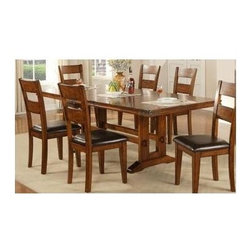 Winners Only - Mango 92 in. Trestle Dining Table - Chairs and bench sold separately. One 18 in. butterfly leaf. Walnut finish. Minimum: 74 in. L x 44 in. W x 30 in. H. Maximum: 92 in. L x 44 in. W x 30 in. H