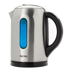 Aroma - Electric Water Kettle - The Aroma Gourmet 6-Cup Digital Electric Kettle features advanced digital settings to heat water to the exact temperature needed providing the perfect heat for your hot beverages. Its keep warm function maintains water temperature for up to 20 minutes. The IntelliTemp display provides real-time readings making temperature easy to monitor. This item cannot be shipped to APO/FPO addresses. Please accept our apologies.