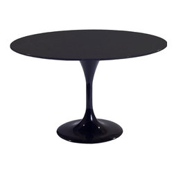 Fine Mod Imports - Flower Black Table - Features: