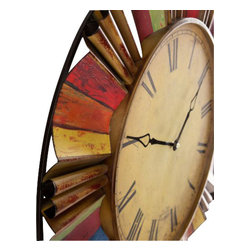 Holly and Martin - Multicolor Wall Clock - If timing is everything, why not hang it in style with this striking wall clock? Make a bold statement by adding this colorful clock to your home.