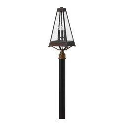 Hinkley Lighting - Hinkley Lighting 2071SN Valley Forge 3 Light Post Lights & Accessories in Sienna - Valley Forge reaches back in time to create a striking traditional lantern design in solid brass construction. The authentic mirror glass reflector and soft arching candle cluster add to its historical appeal.