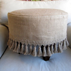 BURLAP Slipcovered Stool ONLY 1 LEFT by yiayias on Etsy