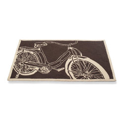 Grandin Road - Bicycle Mat - Keep your home fresh and fashionable (and keep dirt at bay) with this retro bicycle mat.