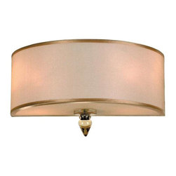 Crystorama Lighting - Crystorama Lighting 9502-AB Luxo Transitional Sconce in Antique Brass - Crystorama Lighting 9502-AB Luxo Transitional Sconce in Antique Brass