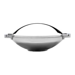 "Berghoff - Berghoff Neo Covered Wok - Neo 14 1/4"" Covered Wok is part of a award winning designer line; modern and functional design. Durable 18/10 stainless steel, 0.8mm wall thickness. Suitable for all heat sources including induction"
