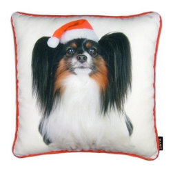 Lava - Holiday Papillion 16X16 Pillow (Indoor/Outdoor) - 100% polyester cover and fill.  Suitable for use indoors or out.  Made in USA.  Spot Clean only