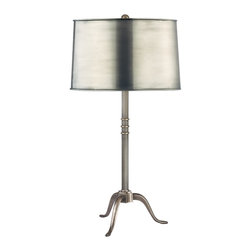 "Hudson Valley - ""L814-VB-M Burton Table Lamp, Vintage Brass"" - ""Transitional Table Lamp in Vintage Brass from the Burton Collection by Hudson Valley. Dimensions: 30.00 H 15.00 W"