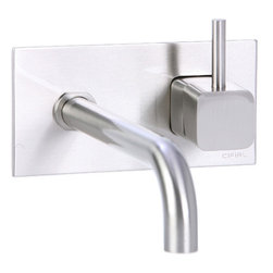 Cifial - Quadra Wall Mounted Bathroom Sink Faucet with Single Handle - This item does not ship to California or Vermont. Features: -Bathroom sink faucet.-Wall mount.-Single handle control.-Does not include drain.-Flow rate: 1.5 GPM.-Rough included.-Quadra collection.-Collection: Quadra.-Distressed: No.-Country of Manufacture: United States.Dimensions: -Spout length: 7.75''.-Overall dimensions: 3.688'' H x 5.94'' W x 7.688'' D.Warranty: -Cifial provides limited lifetime warranty.