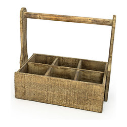 Bambeco Reclaimed Wood Carrier - Add some personality to your space with our Reclaimed Wood Carrier. Imagine all the possible uses for this charming caddy. Use it to hold silverware for an outdoor party, keep towels in the powder room, as a tote for your garden tools, or to display vintage bottles and fresh cut flowers. Handcrafted from reclaimed wood from Spain, these pieces are truly unique and available in limited quantities.