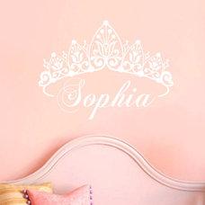 Baby Girl Crown Wall Decal Name Custom Nursery by AllOnTheWall