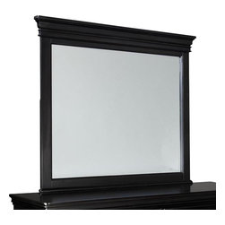Standard Furniture - Standard Furniture Essex Black Rectangular Mirror in Black - Essex Black is an updated and streamlined Louis Philippe design style finished in subtle black for a new contemporary viewpoint.