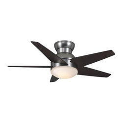 Casablanca - Casablanca Isotope 44 Ceiling Fan in Brushed Nickel - Casablanca Isotope 44 Model CA-59019 in Brushed Nickel with Espresso Finished Blades. Included light fixture for Isotope Fans.