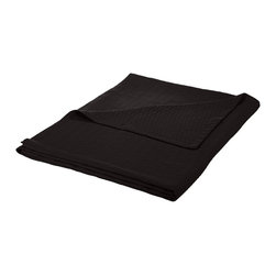 Cotton Blanket (Diamond) King 90 x 108 - Black - Wrap yourself in pure comfort with this all season 100% cotton blanket. This blanket is ideal for year-round use and comes in a variety of colors. The blanket features a marvelous diamond pattern and has a self-binding hem for increased durability. Dimensions: Blanket 90x108.