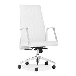 ZUO MODERN - Dean High Back Office Chair White - Dean High Back Office Chair White
