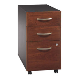 BBF - BBF Series C 3-Drawer Mobile Pedestal (Assembled) - BBF-Commercial Grade Office-WC24453SU-Add versatile storage space with the BBF Series C 3-Drawer Mobile Pedestal (B/B/F). Featuring two box drawers for supplies and a single file drawer to accommodate letter, legal, and A4 file sizes, this convenient unit rolls easily to fit under Series C work surfaces, minimizing your office footprint. Featuring a face front lock, the lower two drawers lock for added security and ease of mobility allowing you keep your files where you need them. The Mobile Pedestal is an attractive storage piece and a versatile addition to your office. Solid construction meets ANSI/BIFMA test standards in place at time of manufacture; this product is American Made and is backed by BBF 10-Year warranty.
