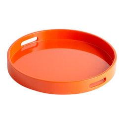 Cyan Design - Estelle Trays - Small estelle trays - orange lacquer
