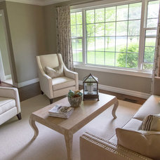 Transitional Family Room by Erin Interiors