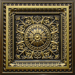 "Decorative Ceiling Tiles - La Scala - Faux Tin Ceiling Tile - 24""x24"" - #223 - Find copper, tin, aluminum and more styles of real metal ceiling tiles at affordable prices . We carry a huge selection and are always adding new style to our inventory."