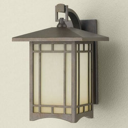 Murray Feiss August Moon Outdoor Wall Lantern - 14H in. Corinthian Bronze - The Murray Feiss August Moon Outdoor Wall Lantern features a Corinthian bronze finish and antique excavation glass shades. For ample outdoor lighting use one 100-watt E bulb (not included). Clean the fixture with a damp cloth and mild soapy water and the shades with household glass cleaner. This light measures 9W x 14H x 11Ext inches with a 4.5 x 11-inch mounting plate.About Murray Feiss LightingThree generations have built Murray Feiss as a renowned name in lighting and it now stands as a leader with a reputation for impeccable craftsmanship innovative design and honest value. Murray Feiss prides itself as the foremost designer and manufacturer of interior and exterior lighting and home decor in the lighting industry. Over 3 800 skilled artists and technicians bring Murray Feiss designs to life meticulously finishing and quality-testing each exclusive product. Murray Feiss Lighting has expanded its extensive copyrighted line of products to include grand chandeliers casual fixtures vanity bath lights with coordinated bath hardware outdoor lighting lamps torchieres wall brackets mirrors and decorative accessories. Whether outdoor or in lighting from Murray Feiss means high quality and innovation.