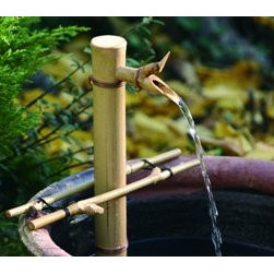 BambooAccents - 12in. Adjust Spout & Pump Kit - Our adjustable spouts are available in four sizes to fit nearly any diameter container. Simply place the spout on the side of a bowl, adjust the support arms to the desired height and your fountain is ready to use! Each spout is expertly crafted using a c
