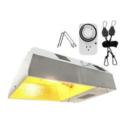 ViaVolt - ViaVolt 250-Watt HPS White Plant Grow Light Kit V250C - Shop for Lighting & Fans at The Home Depot. The ViaVolt 250-watt HPS Grow Light Fixture is enclosed ballast and reflector system perfect for primary or supplemental grow room lighting. Each fixture includes a 250-watt High Pressure Sodium bulb with an initial lumen output of 28,000. Includes built in socket, HPS bulb, 7 1/2 in. power cord, tempered air cooled glass, timer, hanging hooks, and adjustable light hanger. Attach a 5 screw flange kit (part number VFK4) to the top of the fixture for air cooling with an inline fan and ducting. The ViaVolt 250-watt HPS Grow Light Fixture plugs into any standard grounded outlet or timer (included).