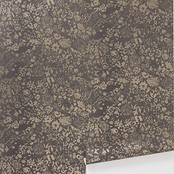Surreptitious Wallpaper - Anthropologie carries different wallpapers each season, and this is one of my current favorites. I love the stenciled feel of the hand-drawn baroque floral pattern.