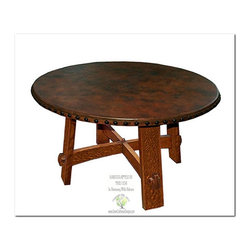 Mission Coffee Tables - This beautiful library table is an identical Historic Reproduction of Gustav Stickley's Round Library Table Catalog Number #636 Circa 1901.  It is 100% Handcrafted in the United States by our Master-Craftsmen and Guaranteed for Life!