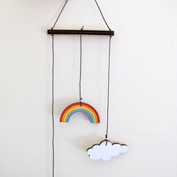 Rainbow Mobile by Shellyka - Hanging from a wall or in a window, this piece would make your child smile. It would also be fun in a playroom.